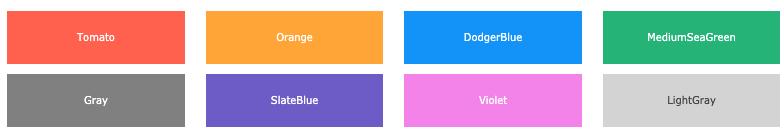 css renkler